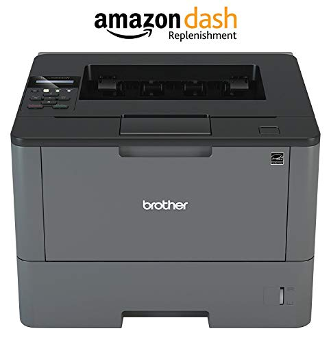 Brother Monochrome Laser Printer, HL-L6200DW, Wireless Networking, Mobile Printing, Duplex Printing, Large Paper Capacity, Amazon Dash Replenishment Enabled ()