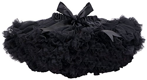 Simplicity Girl's Luxurious Soft Petticoat Tulle Tutu Party Dress Up, Black,M
