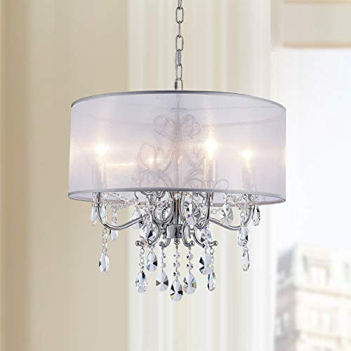 Drum Pendant Light With Crystal in US - 7