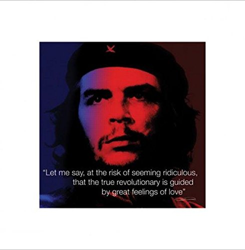 Che Guevara Pop Art (Che Guevara Love Quote Communist Motivational Pop Art Poster 16 x 16 inches)