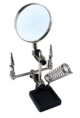 SE MZ1015 Magnifier - Helping Hand with Soldering Station, 2x, 3.5