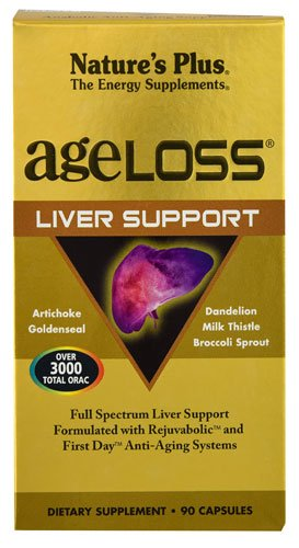 Nature's Plus AgeLoss® Liver Support -- 90 Capsules - 3PC by Nature's Plus Ageloss Liver Support. 90 Vcaps