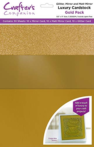 Crafter's Companion CP-LMIX-GOLD811 Mixed Card Pack-Gold Luxury Cardstock from Crafter's Companion