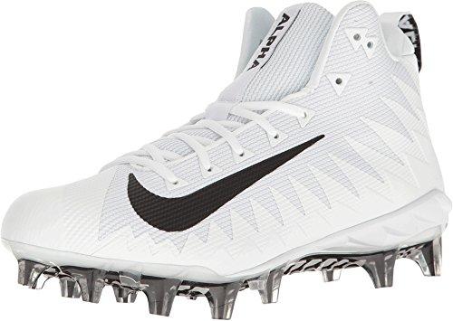 Nike Men's Alpha Menace Pro Mid Football Cleat (11 D US, White/Black) (Best Wr Football Cleats)