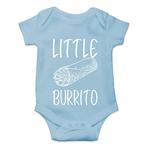 - CBTwear Little Burrito - Funny Food Lover Gift - Cute Infant One-Piece Baby Bodysuit (6 Months, Light Blue)