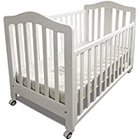 Babyworth Standard BW02 Classic Cot & Innerspring Mattress (White)