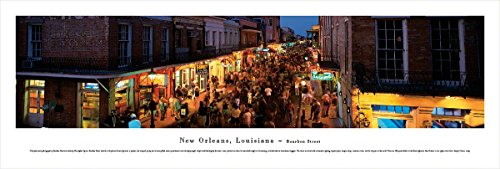 Blakeway Worldwide Panoramas New Orleans, Louisiana - Bourbon Street - Blakeway Panoramas Unframed Icon Posters (Icon Unframed)
