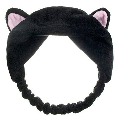 Sanwood Cute Womens Girls Cat Ears Headband Beauty Hair Band (Black) -