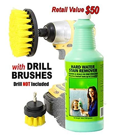 Bio Clean: duro agua quitamanchas (- Martillo fuerza Extra grande) -professional limpiador elimina cromo agua manchas de puertas de ducha parabrisas Fibra ...