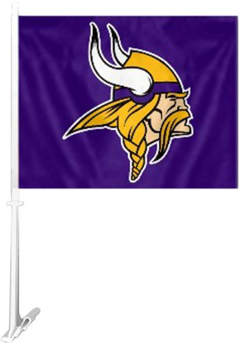 NFL Minnesota Vikings Car Flag (Flag Minnesota Window Vikings)