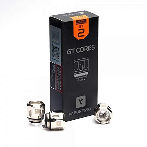 Vaporesso GT Cores GT2 Coils – 0.4 Ohm – (packung von 3) Für NRG Verdampfer – Enthält Kein Nikotin