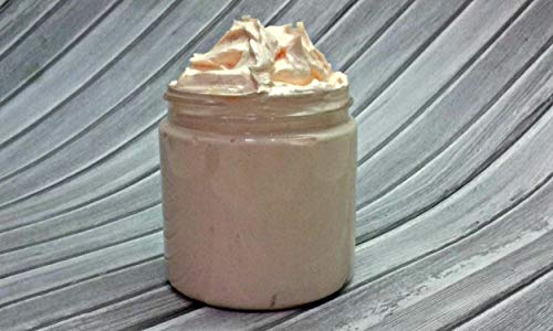 Gingerbread Scented, Handmade Whipped Foaming Sugar Scrub, Lathering Sugar Scrub, 4 fl oz ()