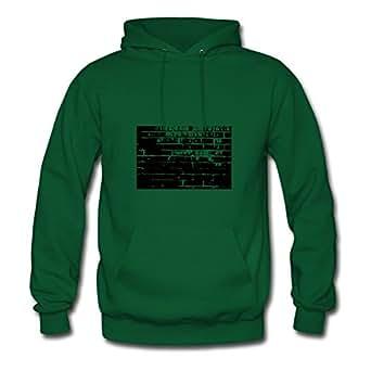 Diatinguish Cool Designed Hoodies Cotton Bricks5 X-large Women Green