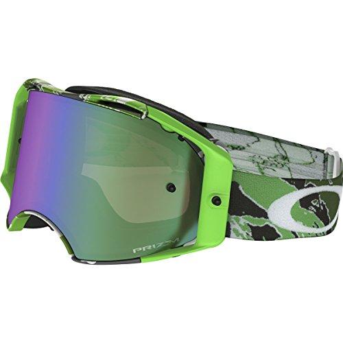 Oakley Airbrake MX Eli Tomac Adult Off-Road Motorcycle Goggles Eyewear - Neon Green Camo/Prizm MX Jade/One Size Fits ()