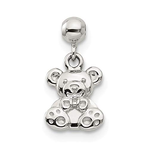 Jewelry Pendants & Charms Themed Charms Sterling Silver Mio Memento Dangle Teddy Bear Charm