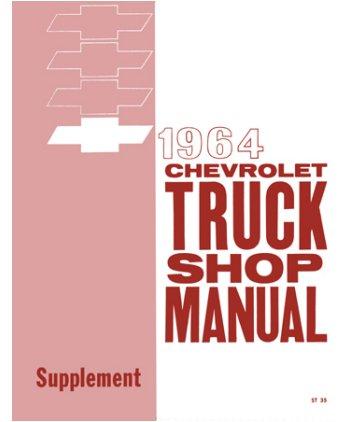 - 1964 Chevrolet Truck Shop Service Repair Manual Supplement Engine Drivetrain Electrical