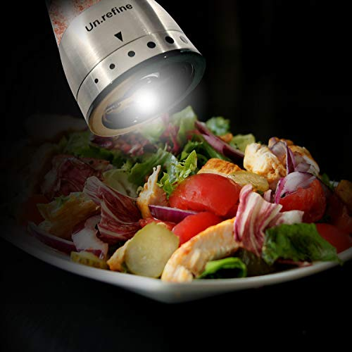 Todays Healthstyles UnRefine- Electric Salt&Pepper Mill Grinders- 2 battery operated mills- Fast motor stops spice clogging- Easy 1 Hand Grip- Makes the healthy change to pink salt in your diet easier by Today's Health Styles (Image #7)