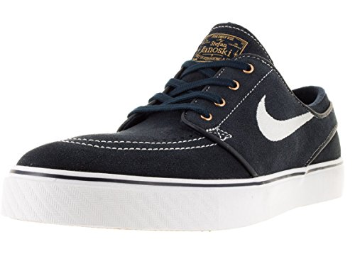 Nike Men's Zoom Stefan Janoski Drk Obsdn/Wht/Wht/Gm Lght Brwn Skate Shoe 9 Men