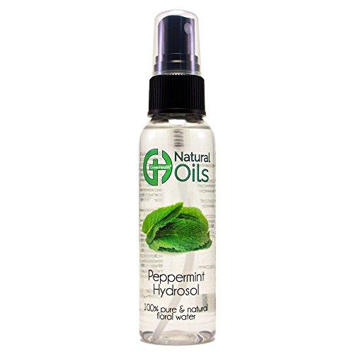 Peppermint Hydrosol - 2 fl oz Plastic Bottle w/Black Spray Cap - 100% pure, distilled from essential oil