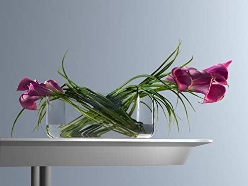 -arrangement de fleuriste Basse rectangulaire en verre Fleurs Vase pour bouquet 40//9//10 cm H