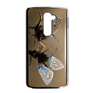 Butterfly Couple Hight Quality Plastic Case for LG G2