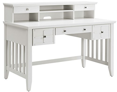 Crosley Furniture KF65003WH Adler Computer Desk with Hutch - ()