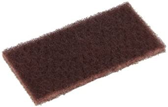 """Glit 27109 TN Industrial Maroon Pad, Synthetic Blend Resin, 6"""" Length x 3"""" Width (Case of 100)"""