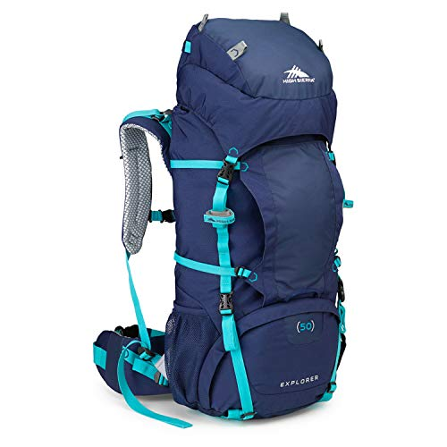 High Sierra Womens Explorer 50 Internal Frame Pack, True Navy/Tropic - Internal Frame Trek Pack