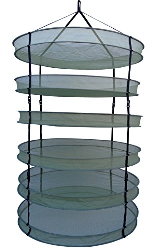 "2x Packs The Clean Cut EZ Cure 6 Tiers 35"" Hanging Drying Ra"