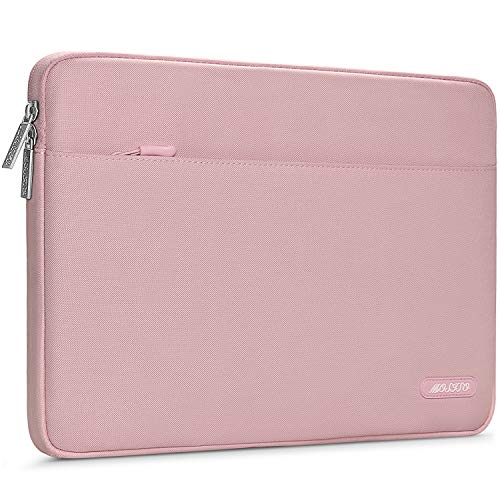 MOSISO Laptop Sleeve Bag Compatible with 13-13.3 inch MacBook Pro, MacBook Air, Notebook Computer, Spill Resistant Polyester Horizontal Protective Carrying Case Cover, Pink