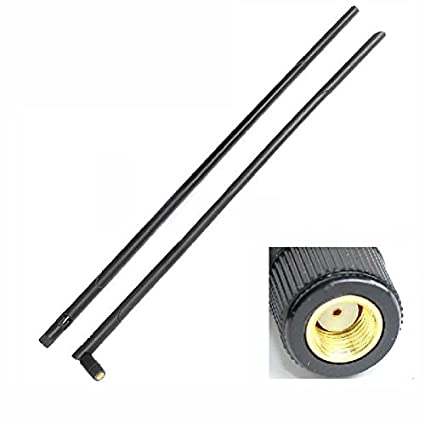 1X 2 4GHz 12dBi high gain Omni WIFI Antenna RP SMA For Wireless Router NEW  45cm Good Quality Fast USA Shipping