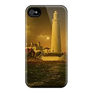 (gBFQIPx1996rsiRW)durable Protection Case Cover For Iphone 4/4s(lighthouse)