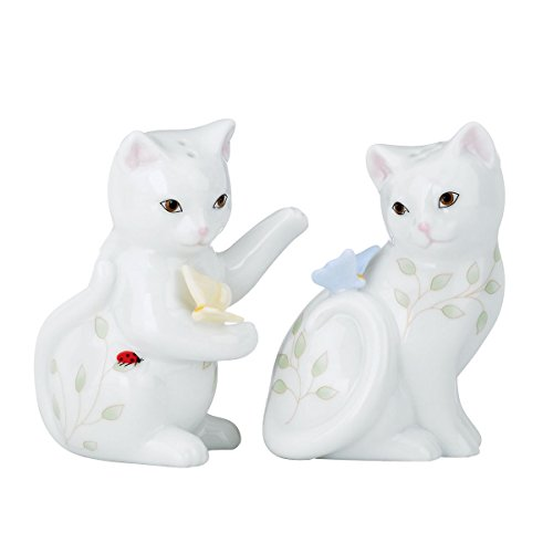 (Lenox Butterfly Meadow Figural Kitten Salt and Pepper Set )