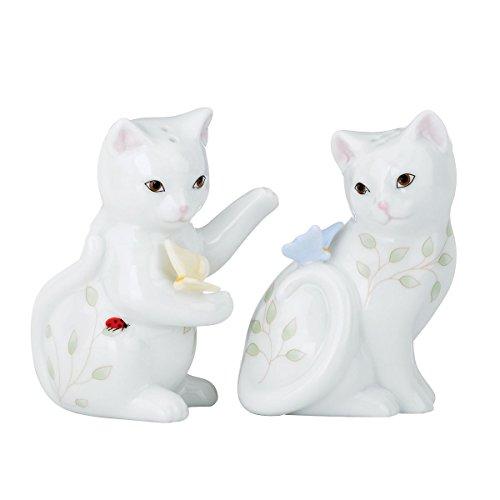 Lenox Butterfly Meadow Figural Kitten Salt and Pepper Set - Figural Salt