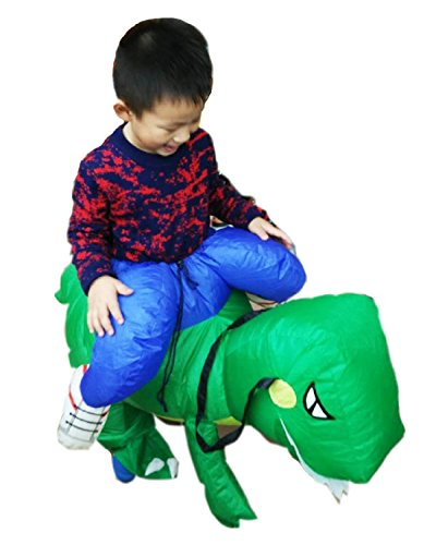 Good Horse And Rider Halloween Costumes (Inflatable Dinosaur Costume Kids Size Halloween Dino Rider Halloween Costume)
