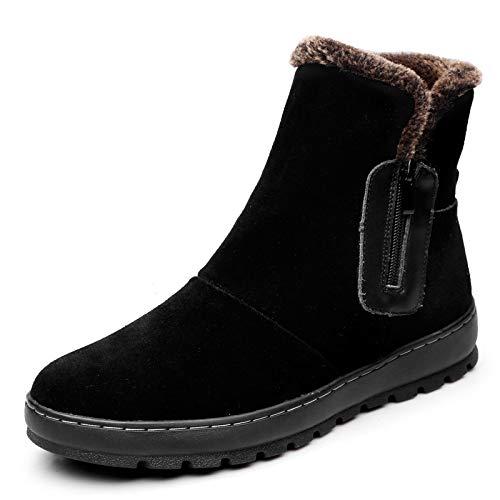 LOVDRAM Stiefel Männer Winter Baumwollschuhe Herren Schneestiefel Herrenstiefel Leder Dicke Lederstiefel Warme Martin Stiefel Rutschfeste Baumwolle Stiefel Schuhe Herrenschuhe