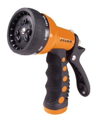 Dramm 12702  9-Pattern Revolver Spray Nozzle, Orange ()