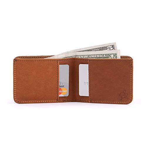 caf86b2029bc1 Saddleback Leather Small Bifold Wallet - RFID Shielded 100% Full Grain  Leather Simple Wallet with