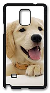 Samsung Galaxy Note 4 Case Golden Retriever Puppy DIY Hard Shell Black Best Designed
