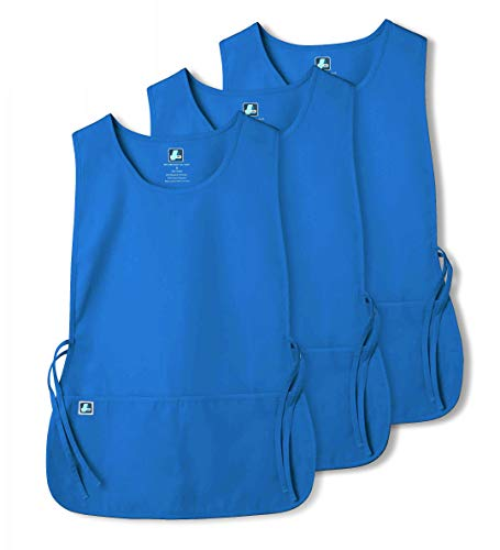 Adar Unisex Cobbler Apron (3 Pack) with 2 Pockets / Adjustable Ties - Available in 30 Colors - 7023 - REG - X ()