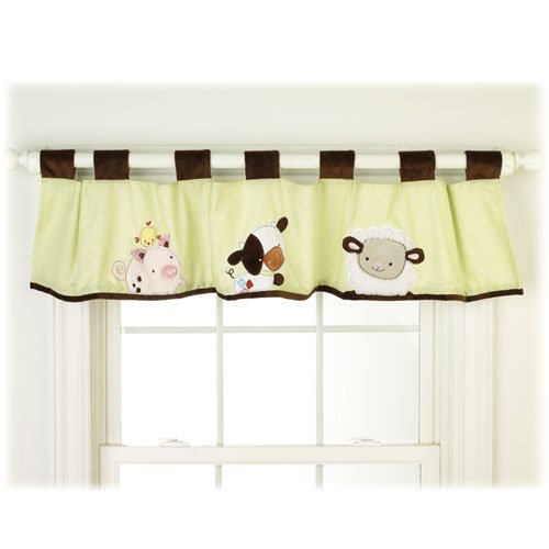 How Now Brown Cow - Farm Friends Window Valance Discontinued Item by Crown Crafts