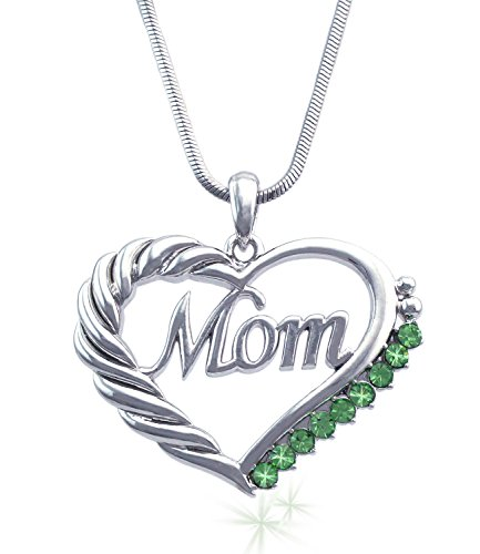 Mothers Engraved Heart Pendant Necklace product image