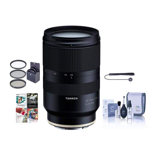 Tamron 28-75mm f/2.8 Di III RXD Lens for Sony E - Bundle wit