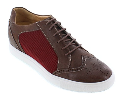 CALTO Zapatillas Para Hombre Marrón Red and Brown
