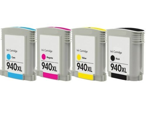 Rich_life Remanufactured Ink Cartridge Replacement for HP 940XL ( Black,Cyan,Magenta,Yellow , 4-Pack (Yield Cyan Pigment)