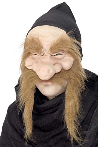 Smiffys Unisex Troll Mask, Half Face with Hood, One Size, Gold Digger Mask, 23817