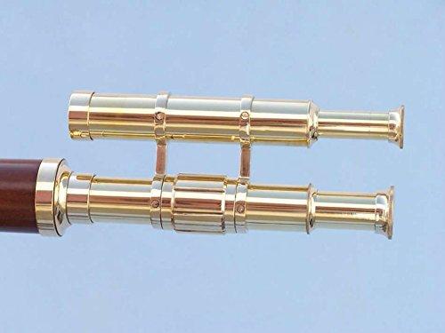 Nauticalmart Floor Standing Solid Brass - Wood Griffith Astro Telescope 64'' by NAUTICALMART