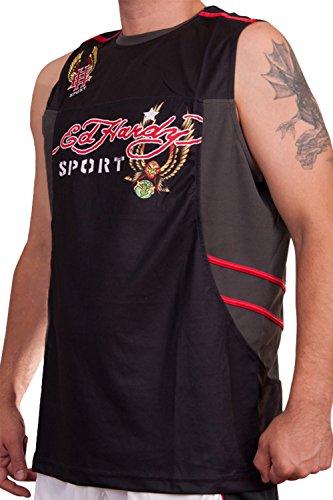 Ed Hardy Mens Eagle Sport Tank Top - Black - X-Large