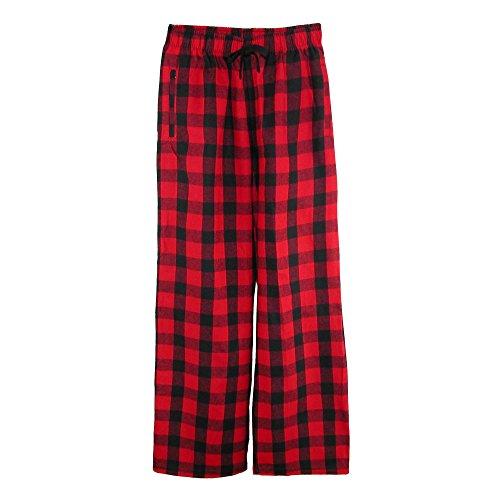 boxercraft Children's Flannel Lounge Pants, Medium, Red