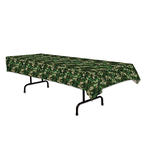 Beistle 59849 Camo Tablecover, 54